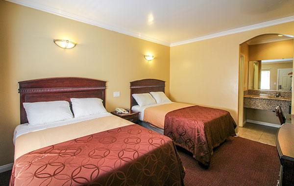 Double Room at Carlton Motor Lodge Studio City, California